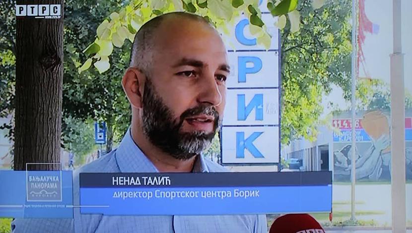 """Талић у Бањалучкој панорами о пословању Спортског центра """"Борик"""""""